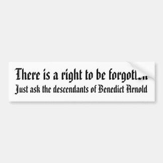 Adesivo De Para-choque Há um direito de ser esquecido