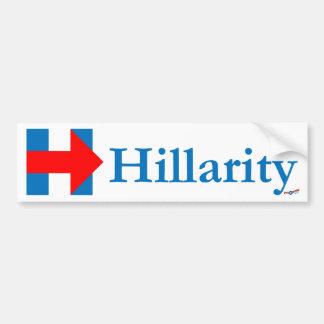 Adesivo De Para-choque Hillarity 1 etiqueta