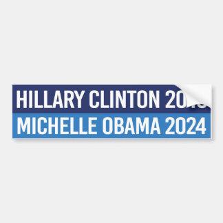 Adesivo De Para-choque Hillary Clinton 2016 e Michelle Obama 2024