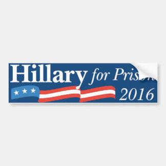 Adesivo De Para-choque Hillary para a prisão