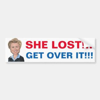 Adesivo De Para-choque Hillary perdeu assim que obtenha sobre ele