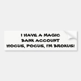 Adesivo De Para-choque Hocus Pocus eu sou Brokus