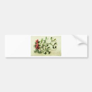 Adesivo De Para-choque Holly_Christmas_card_