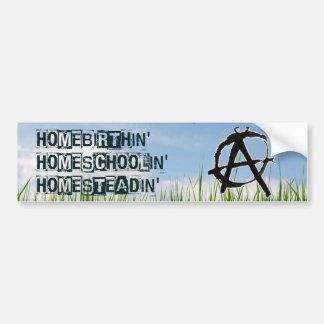 Adesivo De Para-choque Homebirthin Homeschoolin Homesteadin