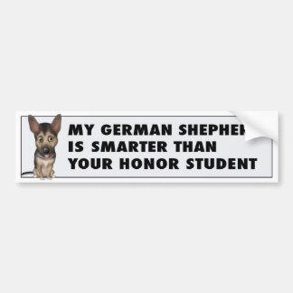 Adesivo De Para-choque Honra GS1 do german shepherd