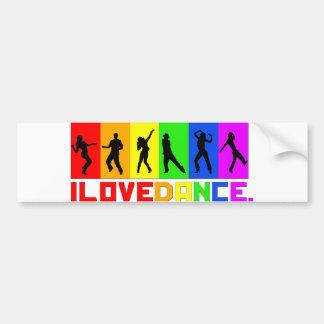 """Adesivo de para-choque """"I love dance"""""""