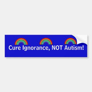 Adesivo De Para-choque Ignorância da cura, não autismo!