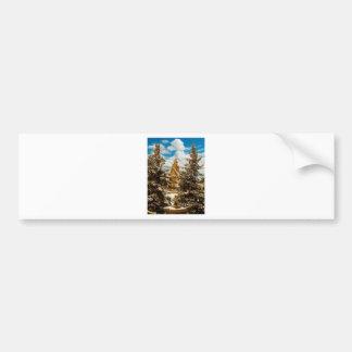 Adesivo De Para-choque Igreja Minot North Dakota de Gol do inverno