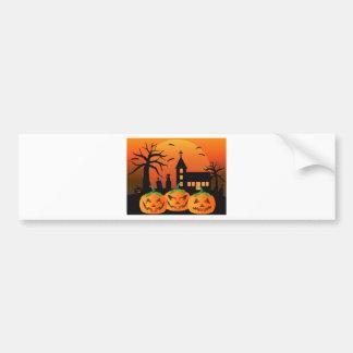Adesivo De Para-choque Ilustração das abóboras da lanterna do Dia das