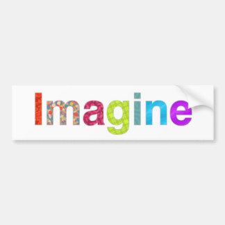 Adesivo De Para-choque Imagine o cartão colorido da inspiração do