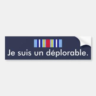 Adesivo De Para-choque Indicação deplorável de GWOTEM em francês…
