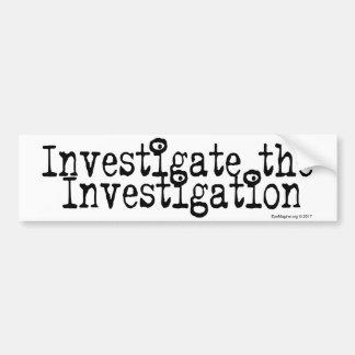 Adesivo De Para-choque Investigue