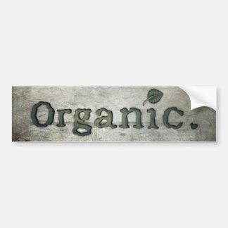 Adesivo De Para-choque ir orgânico para a saúde