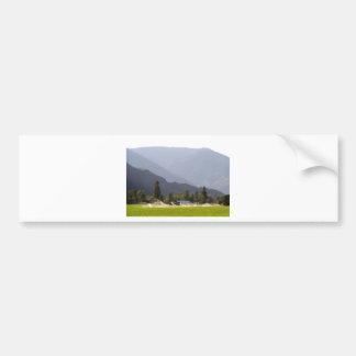 Adesivo De Para-choque Irrigação do Hayfield nas montanhas de BC