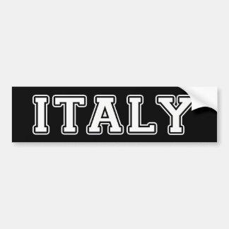 Adesivo De Para-choque Italia