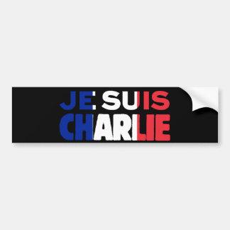 Adesivo De Para-choque Je Suis Charlie - eu sou Tri Cor de Charlie de