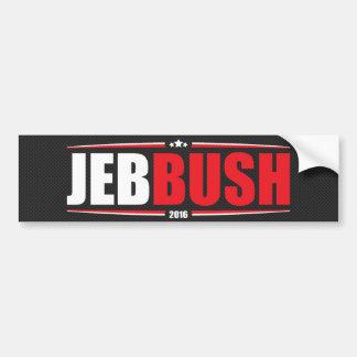 Adesivo De Para-choque Jeb Bush 2016 (estrelas & listras - preto)