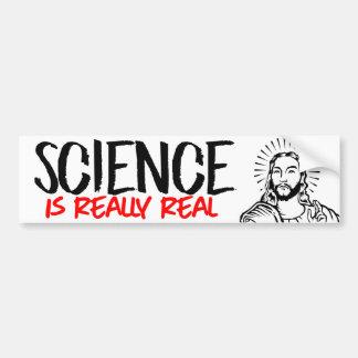 Adesivo De Para-choque Jesus diz que a ciência é realmente real -