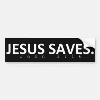 Adesivo De Para-choque Jesus salvar no preto