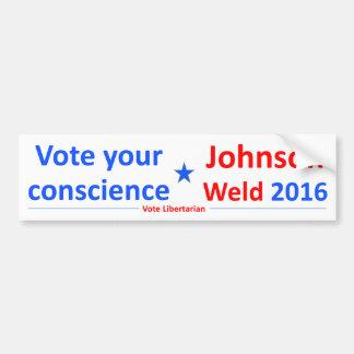 Adesivo De Para-choque Johnson-Solda 2016 -- Vote sua consciência