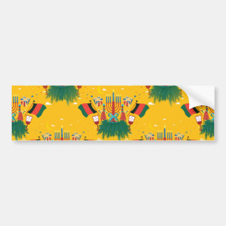 Adesivo De Para-choque Kwanzaa amarelo