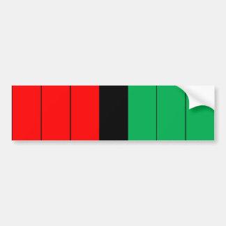 Adesivo De Para-choque Kwanzaa colore o teste padrão verde preto vermelho