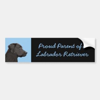 Adesivo De Para-choque Labrador retriever (preto)