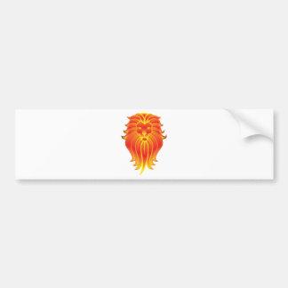 Adesivo De Para-choque Leão customizável do zodíaco de Leo do fogo