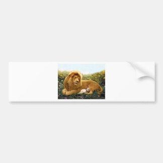 Adesivo De Para-choque Leão e cordeiro
