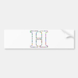Adesivo De Para-choque Letra H da estrela do arco-íris