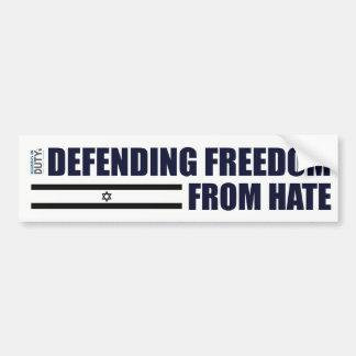 Adesivo De Para-choque Liberdade de defesa da etiqueta do ódio