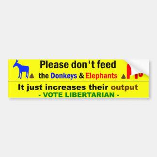 Adesivo De Para-choque Libertário do voto
