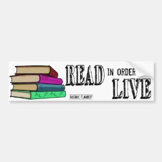 Adesivo De Para-choque Lido a fim viver para amantes de livro