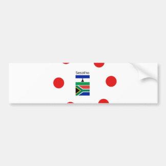 Adesivo De Para-choque Língua de Sesotho e bandeiras de Lesotho/África do