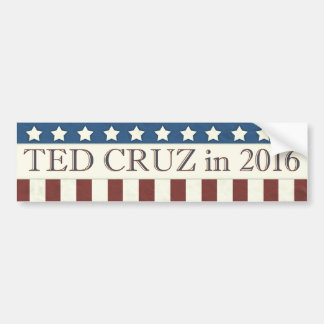 Adesivo De Para-choque Listras do presidente 2016 estrelas de Ted Cruz
