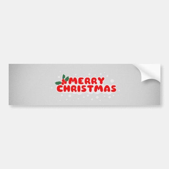 Adesivo De Para-choque Little Merry Christmas