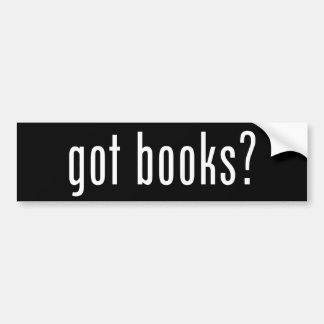 Adesivo De Para-choque livros obtidos? Autocolante no vidro traseiro