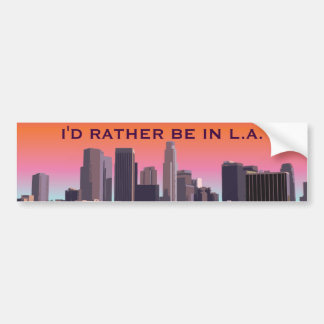 Adesivo De Para-choque Los Angeles do centro - imagem customizável
