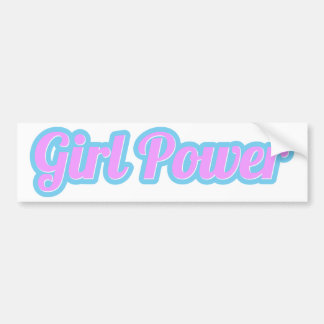 Adesivo De Para-choque Luz de poder da menina - rosa e luz - azul