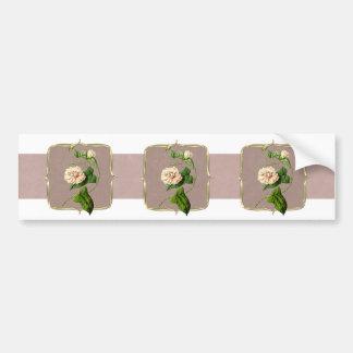 Adesivo De Para-choque Luz - o vintage cor-de-rosa floresce largamente