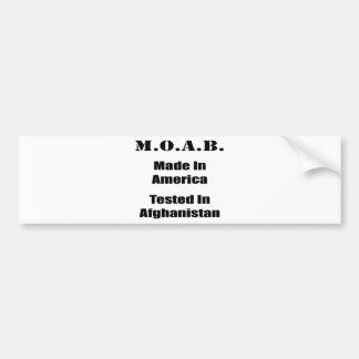 Adesivo De Para-choque M.O.A.B. Feito em América testou no preto de