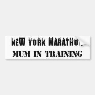 Adesivo De Para-choque Mãe da maratona de New York no autocolante no