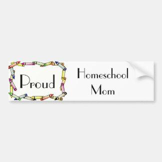 Adesivo De Para-choque Mamã de Homeschool