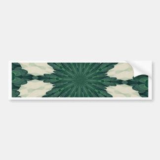 Adesivo De Para-choque Mandala. da folha verde e de prata de Sacramento