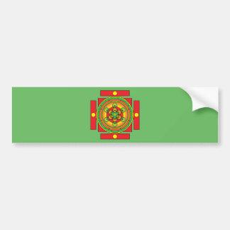 Adesivo De Para-choque Mandala de Merkaba do cubo de Metatron