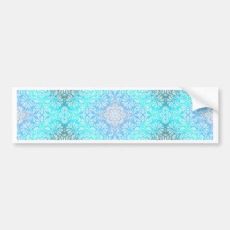 Adesivo De Para-choque Mandala do laço de turquesa