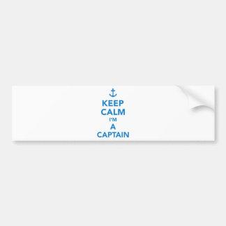 Adesivo De Para-choque Mantenha a calma que eu sou um capitão