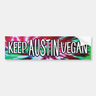 Adesivo De Para-choque Mantenha o Vegan de Austin