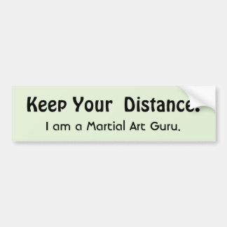 Adesivo De Para-choque Mantenha sua distância! Arte marcial - mensagem