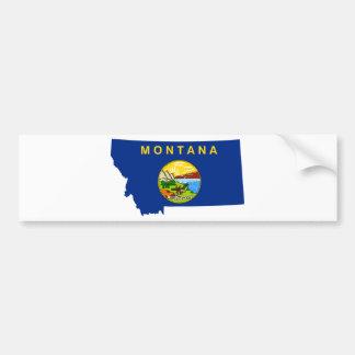 Adesivo De Para-choque Mapa da bandeira de Montana